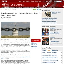 US shutdown has other nations confused and concerned
