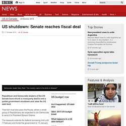 US shutdown: Senate reaches fiscal deal