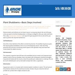 Plant Shutdowns—Basic Steps Involved