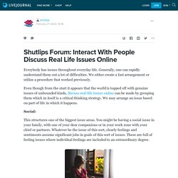 Shutlips Forum: Interact With People Discuss Real Life Issues Online