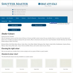 Shutter Colours By Shutter Master Of London UK