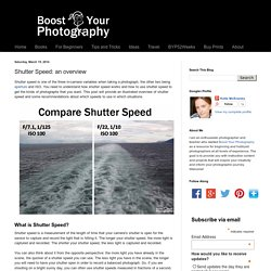 Boost Your Photography: Shutter Speed: an overview