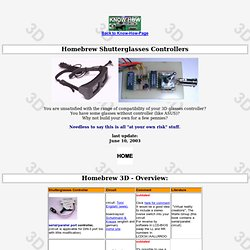 Homebrew 3D Shutterglasses Controllers