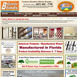 Shutters - Gator Blinds® # 1 offers Shutters, Faux wood, Mini Blinds, Window Blinds, Plantation shutters, Faux wood, window blinds, mini, Window blinds, window, mini, mini, Vinyl, vertical, Plantation, Plantation shutters, Plantation, Faux wood, Faux wood