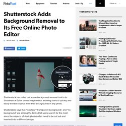 Shutterstock Adds Background Removal to Its Free Online Photo Editor