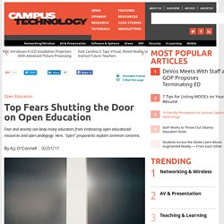 Top Fears Shutting the Door on Open Education