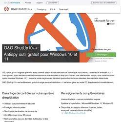 O&O ShutUp10: Antispy outil gratuit pour Windows 10