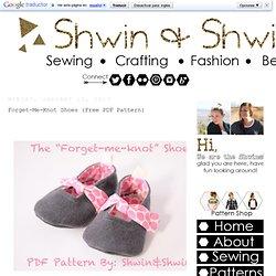 Shwin y Shwin: Forget-Me-Knot Zapatos {Free PDF Patrón}