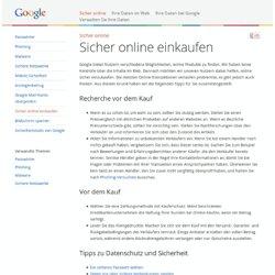 Sicher online einkaufen – Gut zu wissen – Google