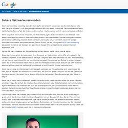Sichere Netzwerke – Gut zu wissen – Google