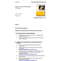 Außen- und Sicherheitspolitik in Europa, Zeitschrift Deutschland und Europa 55 - 2008
