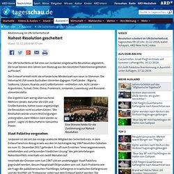 Abstimmung im UN-Sicherheitsrat: Nahost-Resolution gescheitert