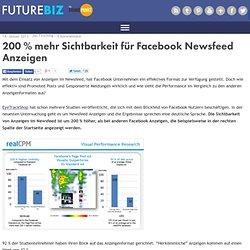 200 % mehr Sichtbarkeit für Facebook Newsfeed Anzeigen