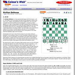 Sicilian Defense - Chess Openings - Caissa's Web