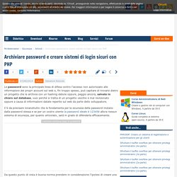Sicurezza PHP: come archiviare password e creare sistemi di login sicuri
