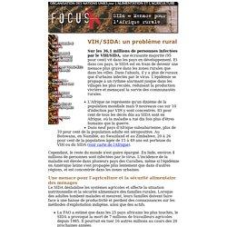 SIDA - Menace pour l'Afrique rurale