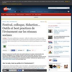 Festival, colloque, Sidaction... Outils et best practices de l'événement sur les réseaux sociaux