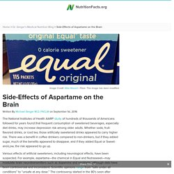 Side-Effects of Aspartame on the Brain