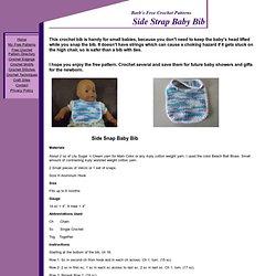 Side Strap Baby Bib