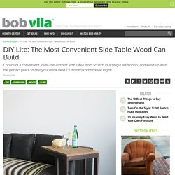 DIY Side Table - How to Build Your Own Furniture