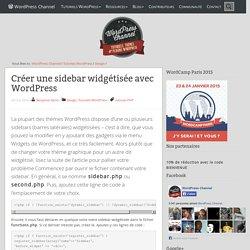 Créer une sidebar widgétisée dans WordPress