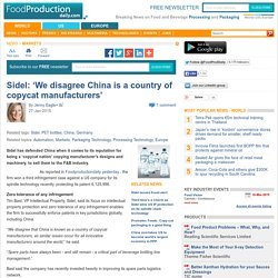 Sidel China copycat manufacturers