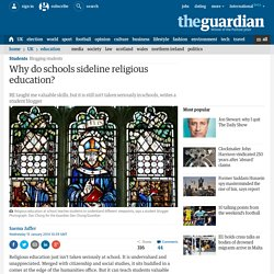 Why do schools sideline religious education?