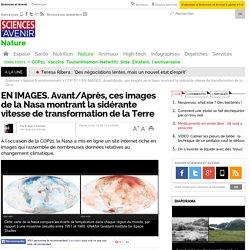 EN IMAGES. Avant/Après, ces images de la Nasa montrant la sidérante vitesse de transformation de la Terre