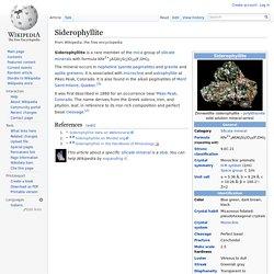 Siderophyllite