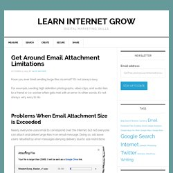 Frustrated with email attachment size limitations? Use these tools -