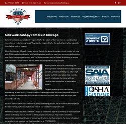 Sidewalk canopy - United Scaffoling Inc