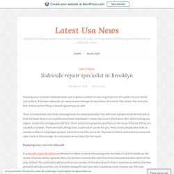 Sidewalk repair specialist in Brooklyn – Latest Usa News