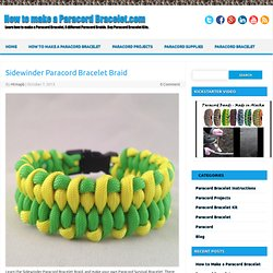 Sidewinder Paracord Bracelet Braid