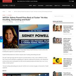 """WATCH: Sidney Powell Fires Back at Tucker """"He Was Insulting, Demanding and Rude"""""""