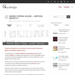 Sidney Opera House – Motion identity – René Querin