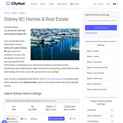 Sidney BC homes for sale