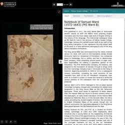 Sidney Sussex College : Notebook of Samuel Ward (1572-1643)