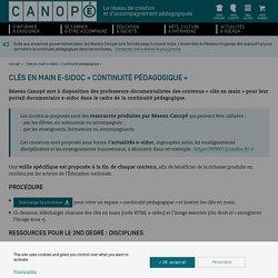 Clés en main e-sidoc « Continuité pédagogique »