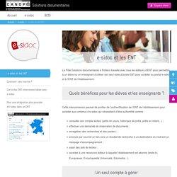 e-sidoc et les ENT - Solutions documentaires