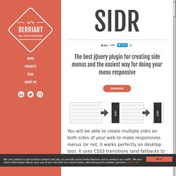 Sidr - A jQuery plugin for creating side menus