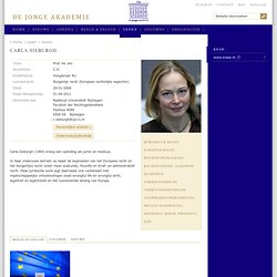 Sieburgh, Prof. mr. drs. C.H. (Carla) — Nederlands