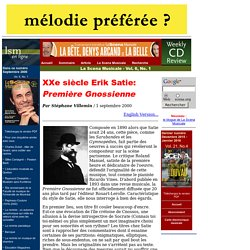 Satie - Gnossienne 1 - analyse