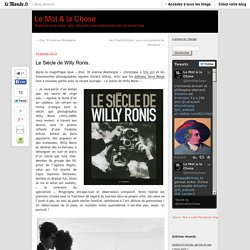 Le Siècle de Willy Ronis.