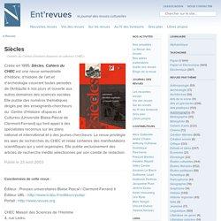 Siècles - Ent'revues, le site des revues culturelles
