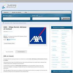 AXA – Siège Social, Adresse et Contact