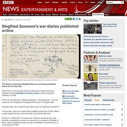 Siegfried Sassoon's war diaries published online
