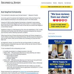 Bud Siegfried Scholarship