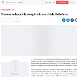 Siemens se lance à la conquête du marché de l'hôtellerie