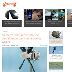 Siemens' world-record electric aircraft motor punches above its weight