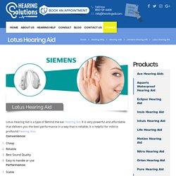 Siemens lotus hearing aid